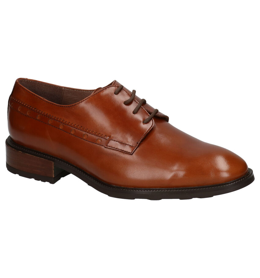 Wonders Cognac Veterschoenen