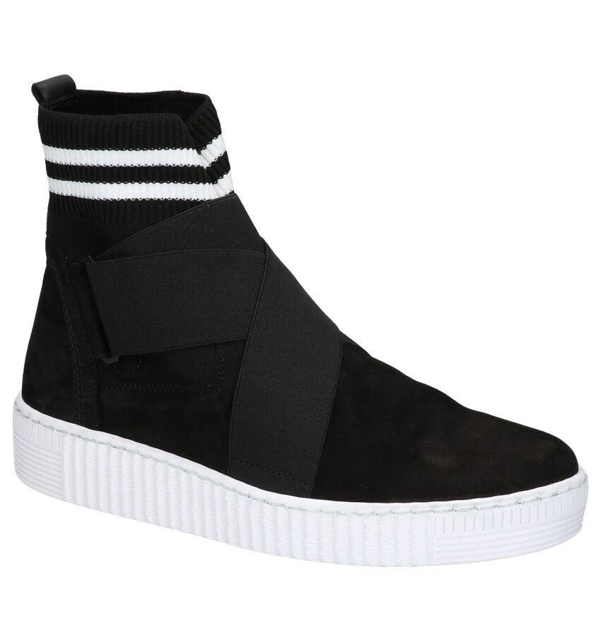 Gabor Best Fitting Zwarte Slip-on Sneakers