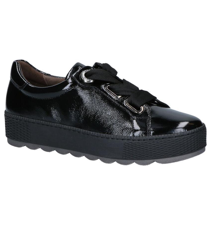Gabor Comfort Zwarte Veterschoenen