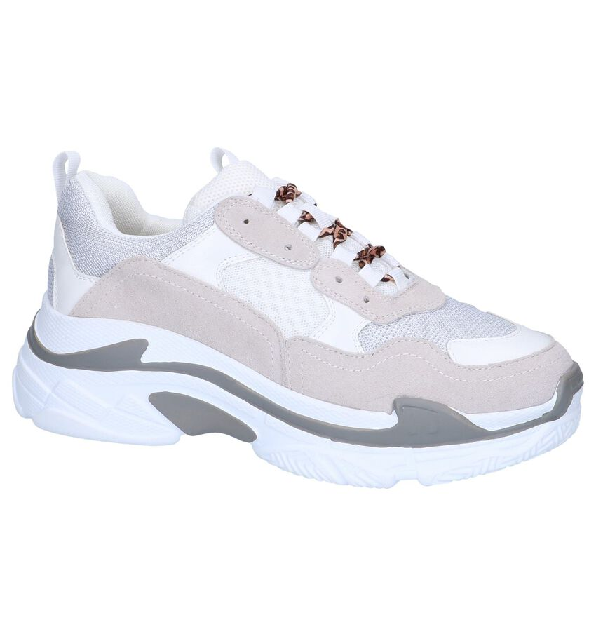 Witte Nineties Sneakers Shoecolate