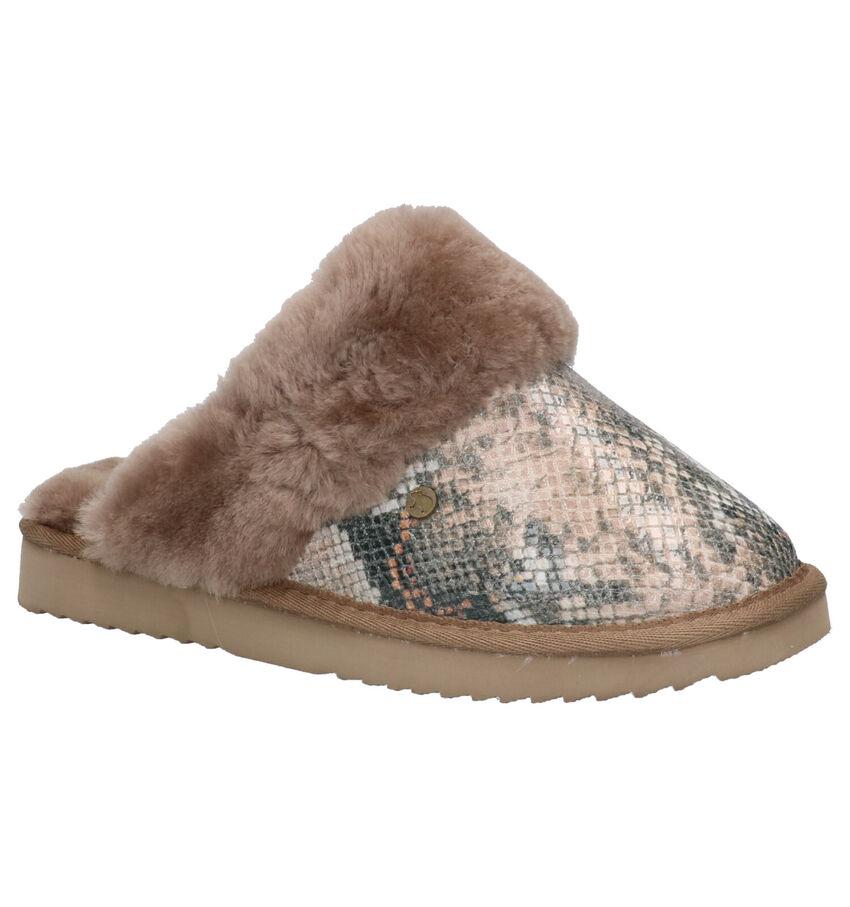 Warmbat Flurry Taupe Pantoffels