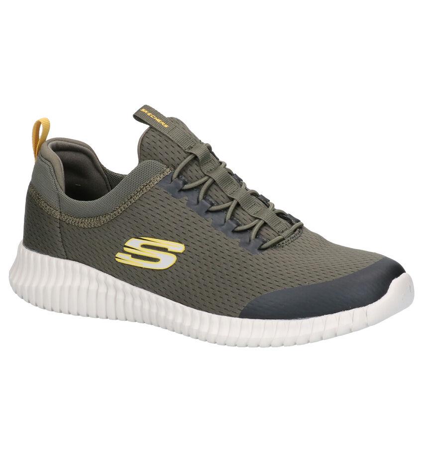 Skechers Elite Flex Kaki Sneakers