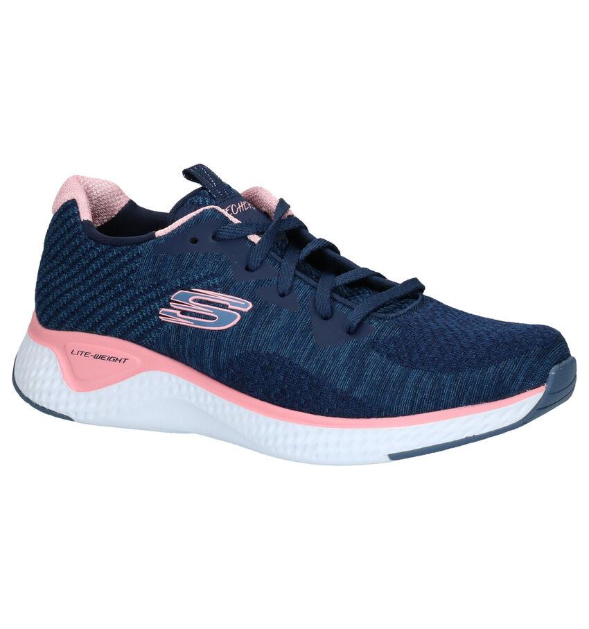 Skechers Solar Fuse Blauwe Sneakers