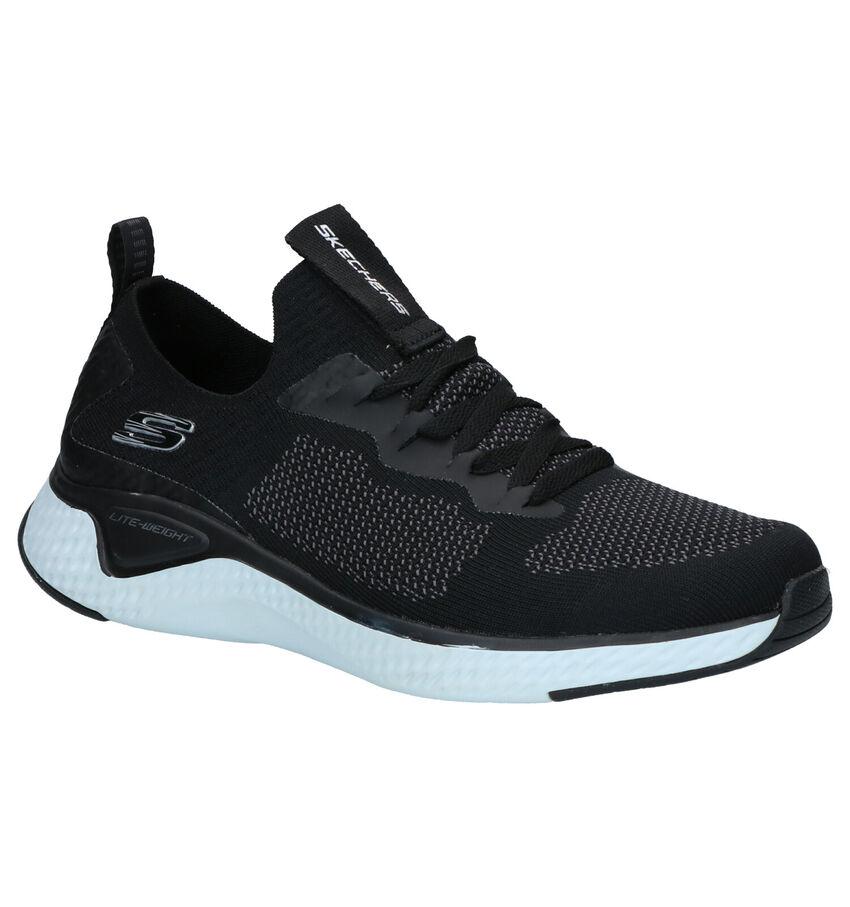 Skechers Solar Fuse Valedge Sneakers Zwart