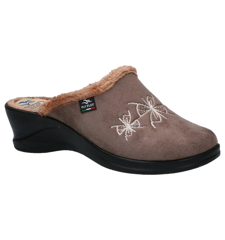 Fly Flot Taupe Anti-Slip Pantoffels