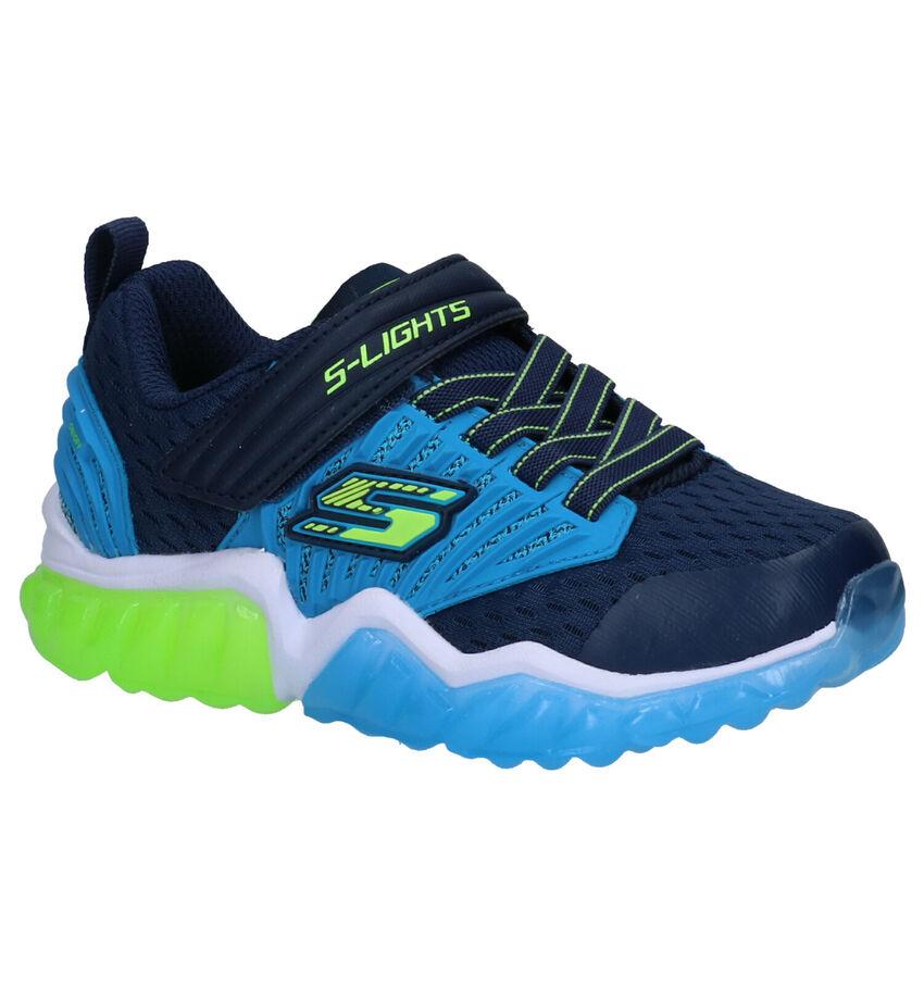 Skechers S Lights Blauwe Sneakers