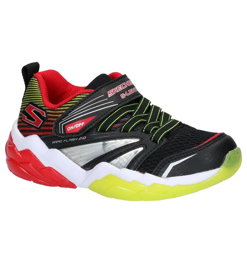 Skechers S Lights Zwarte Sneakers