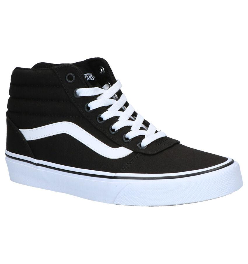 Vans Ward Hi Zwarte Sneakers