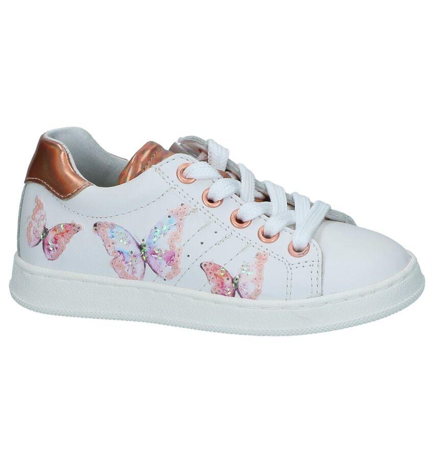 Witte Schoenen met Rits-Veter Kipling Genova