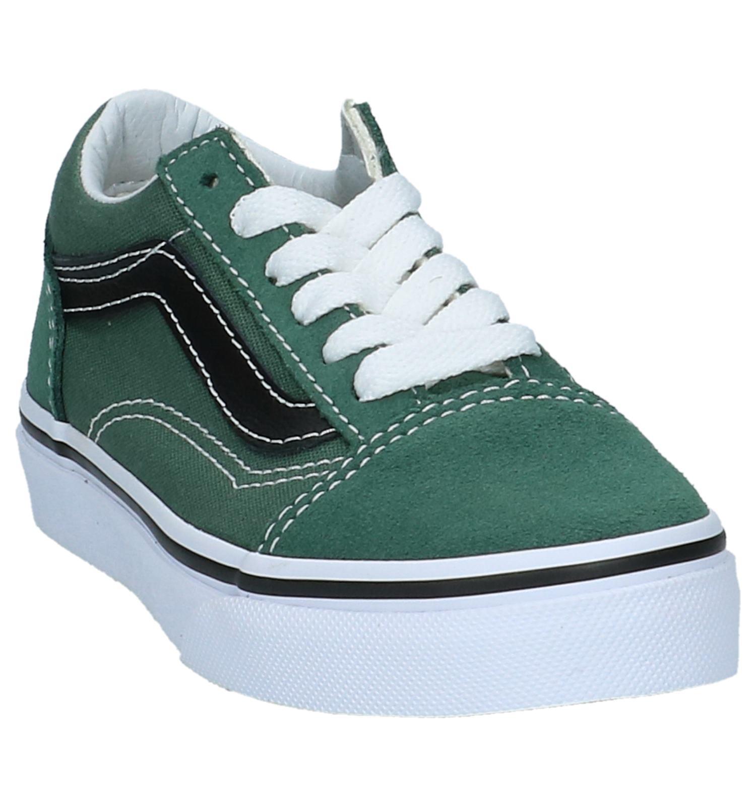 2 kleuren donker groene hoge vans