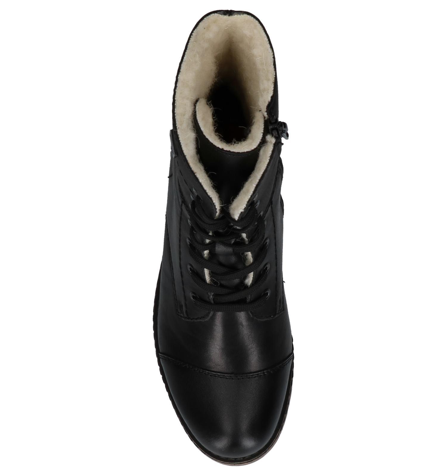 Rieker Zwarte veter Boots Rits Boots Rits Rieker Zwarte Boots veter Zwarte veter Rits gyvYb76Ifm