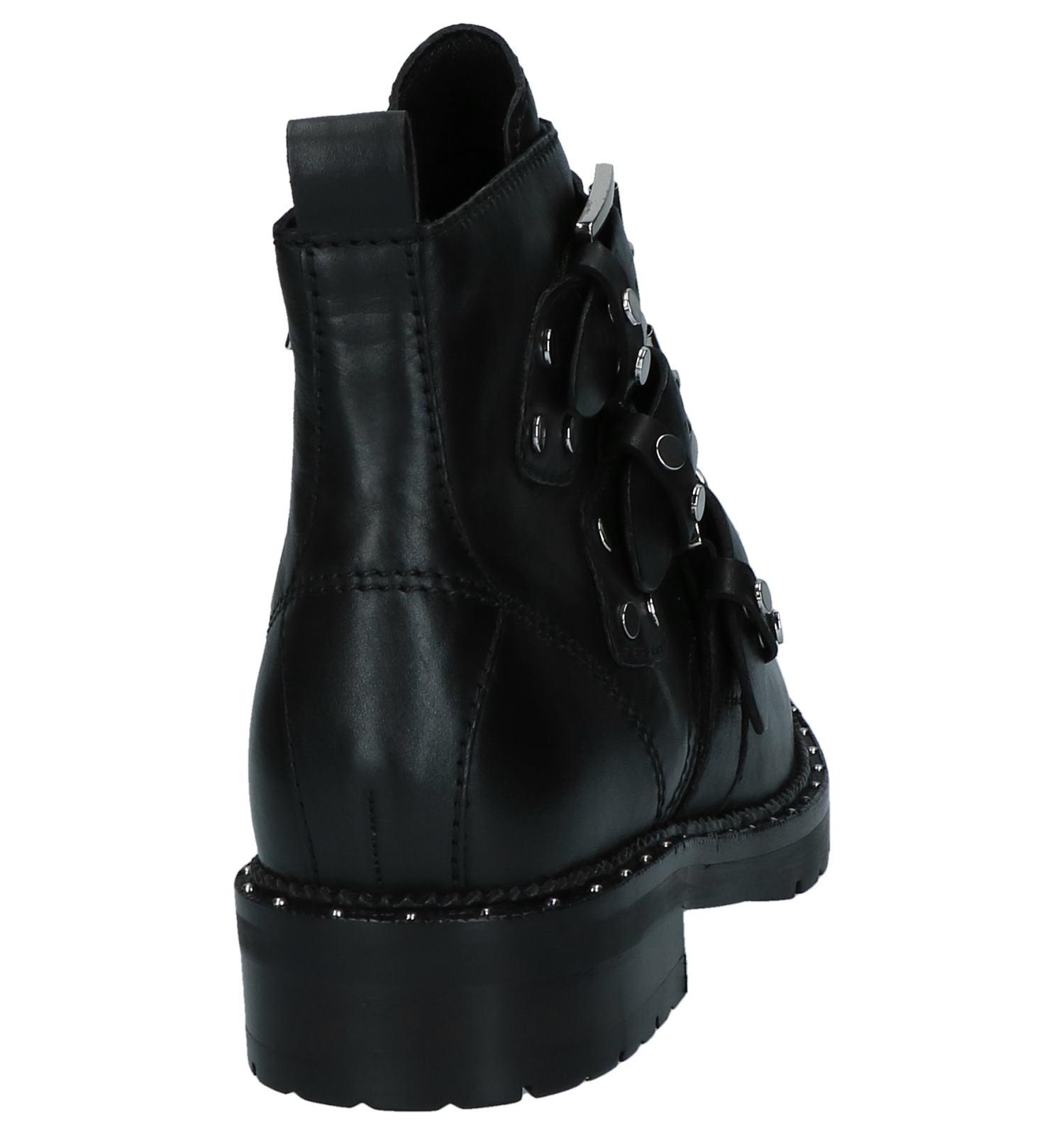 Bronx Met Zwart Gespen Zwart Boots Boots mvnwN80