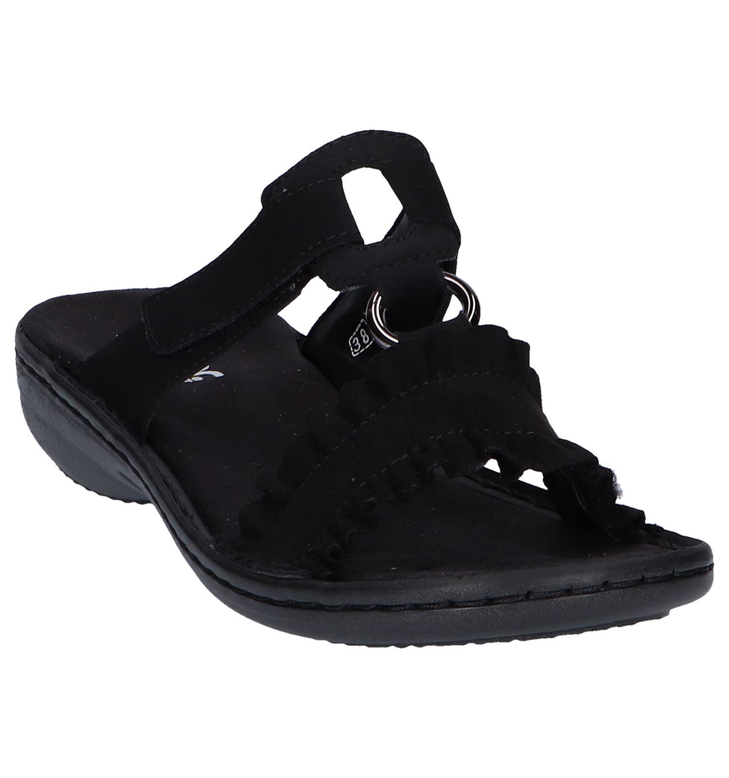 Zwarte Zwarte Zwarte Slippers Rieker Slippers Rieker Zwarte Slippers Slippers Rieker NnOvm0w8