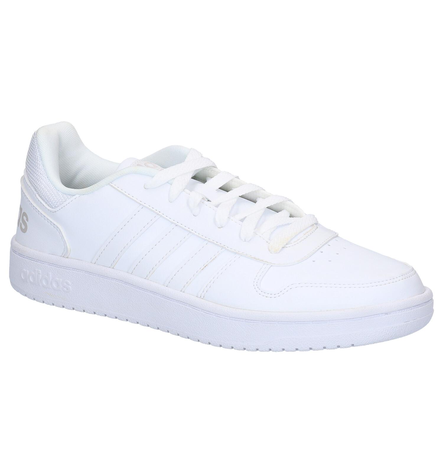adidas Hoops 2.0 Witte Sneakers | SCHOENENTORFS.NL | Gratis verzend en retour