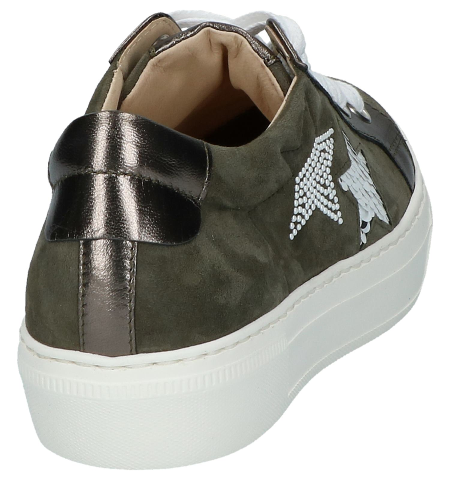 Fitting Plateau Sneakers Kaki Gabor Met Best Ny0O8vmwn