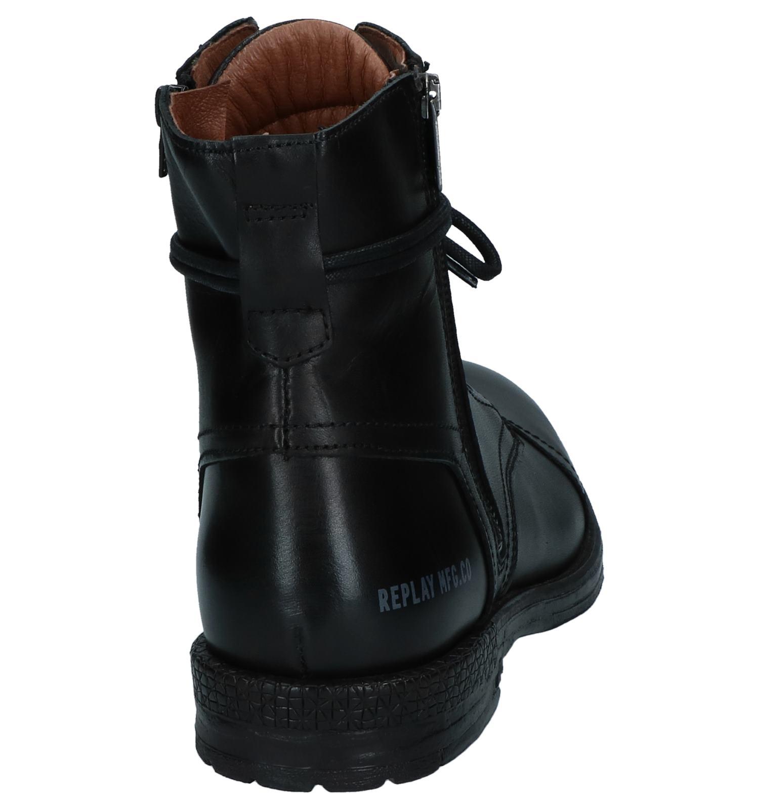 veter Replay Rits Zwarte Boots Met c3L5AR4jq