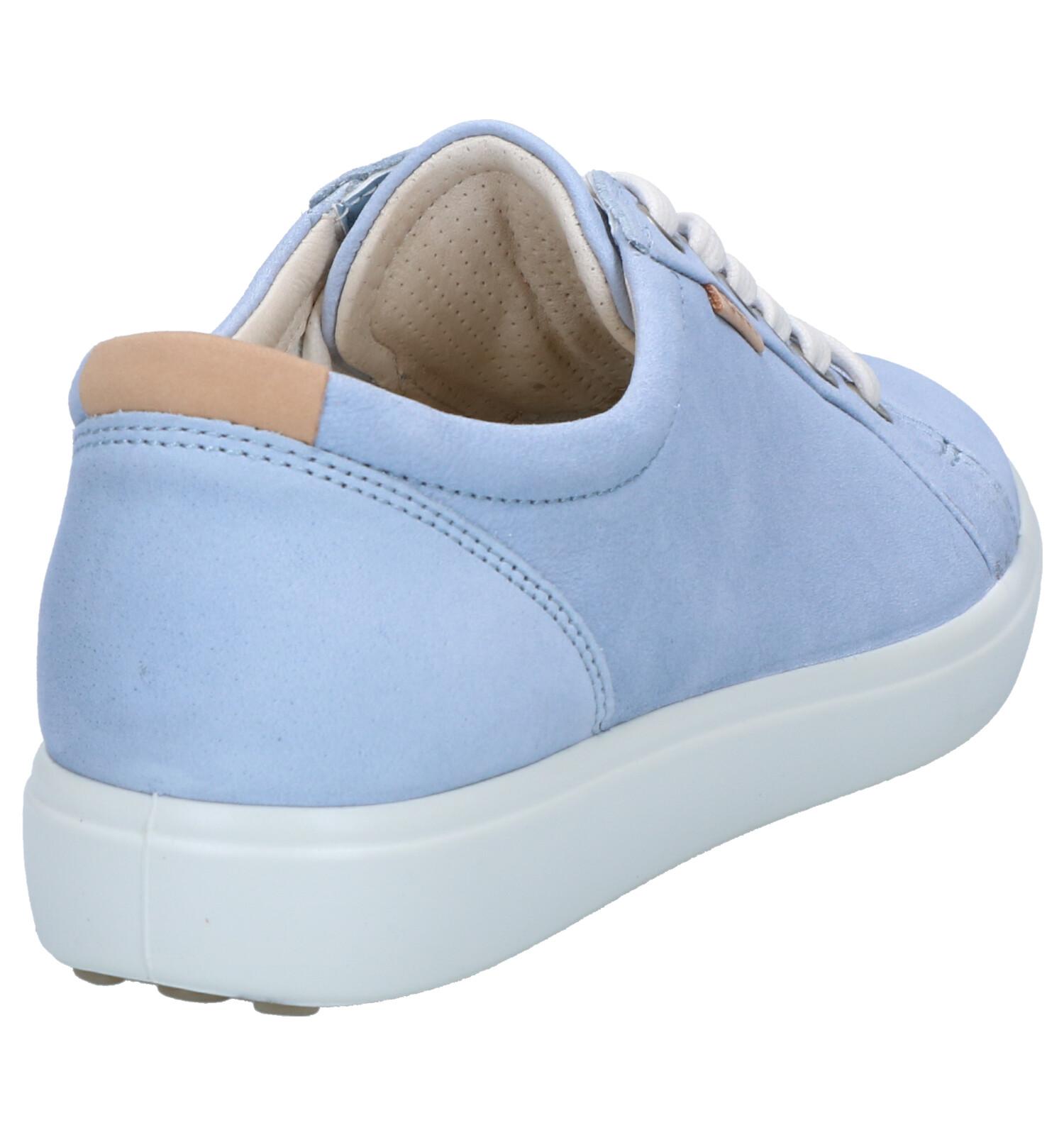 Lichtblauwe Veterschoenen ECCO Soft 7 | TORFS.BE | Gratis verzend en retour