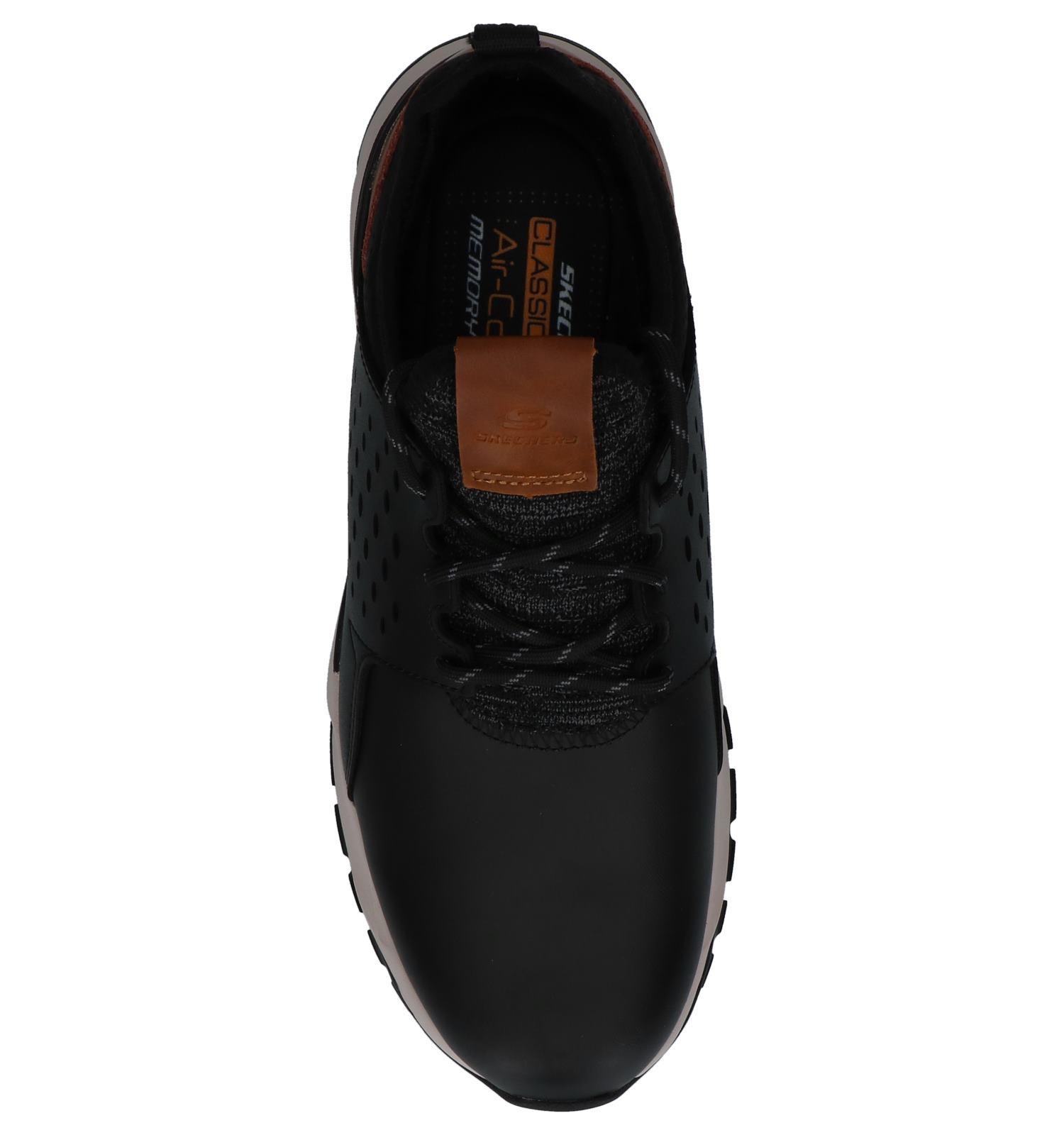 on Skechers Zwarte Slip Hemson Relven Sneakers TlF3K1Jcu5