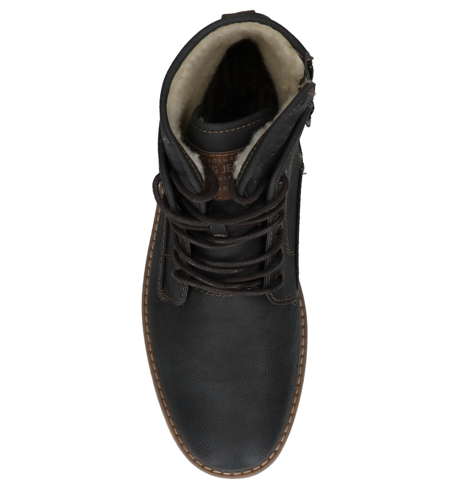veter Grijze Boots Met Donker Mustang Rits 3Ljq54RA