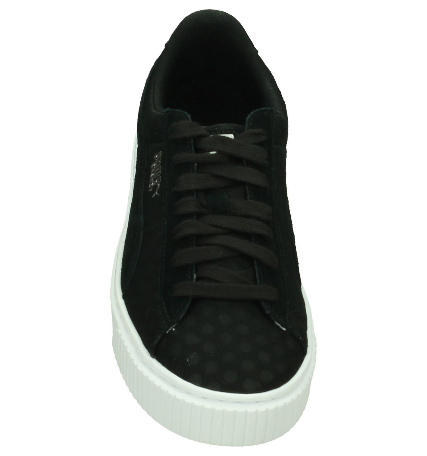 Puma Basket Platform Zwarte Sneakers | TORFS.BE | Gratis verzend en retour
