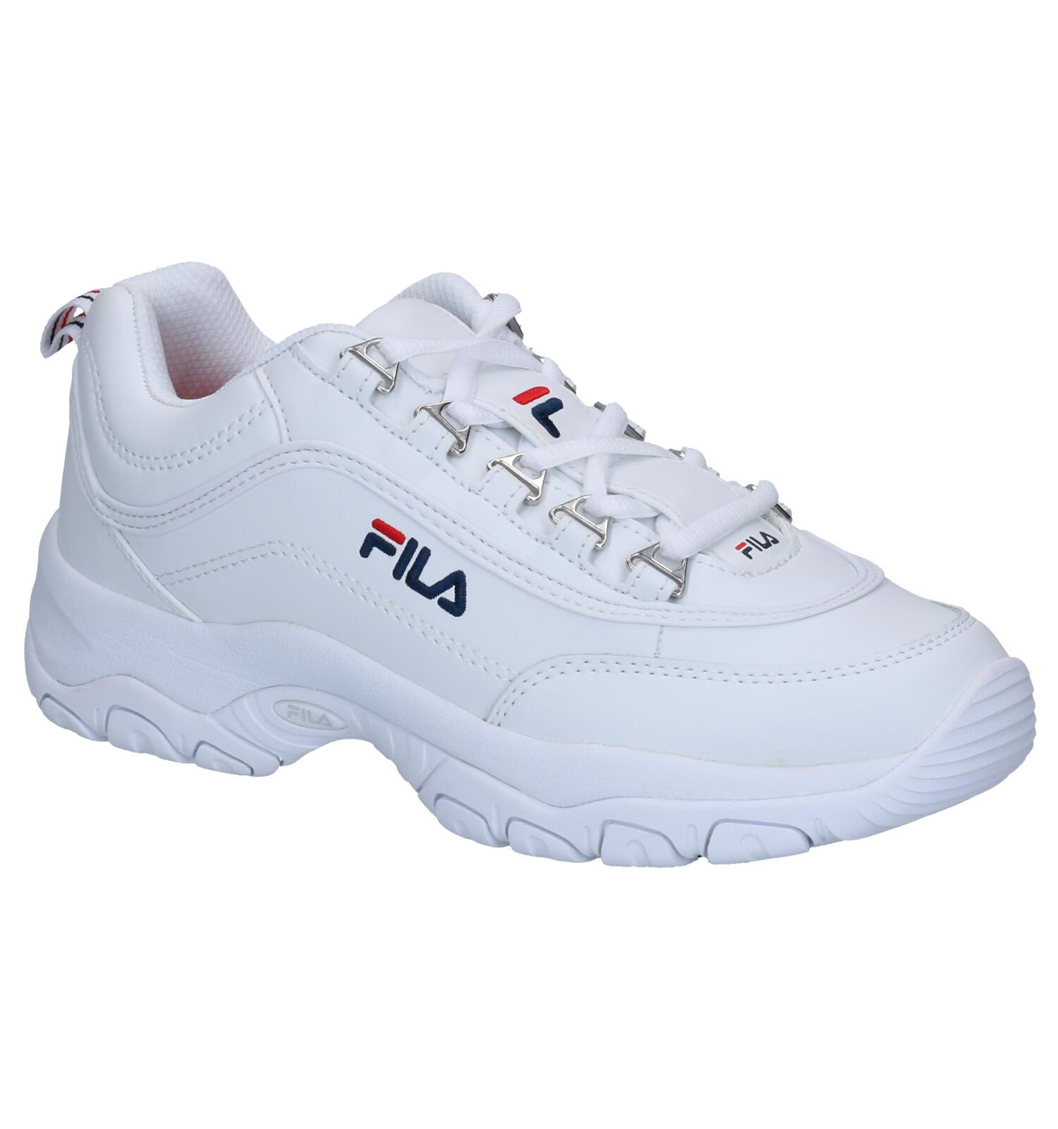 Fila Strada Low Witte Sneakers   SCHOENENTORFS.NL   Gratis verzend en retour