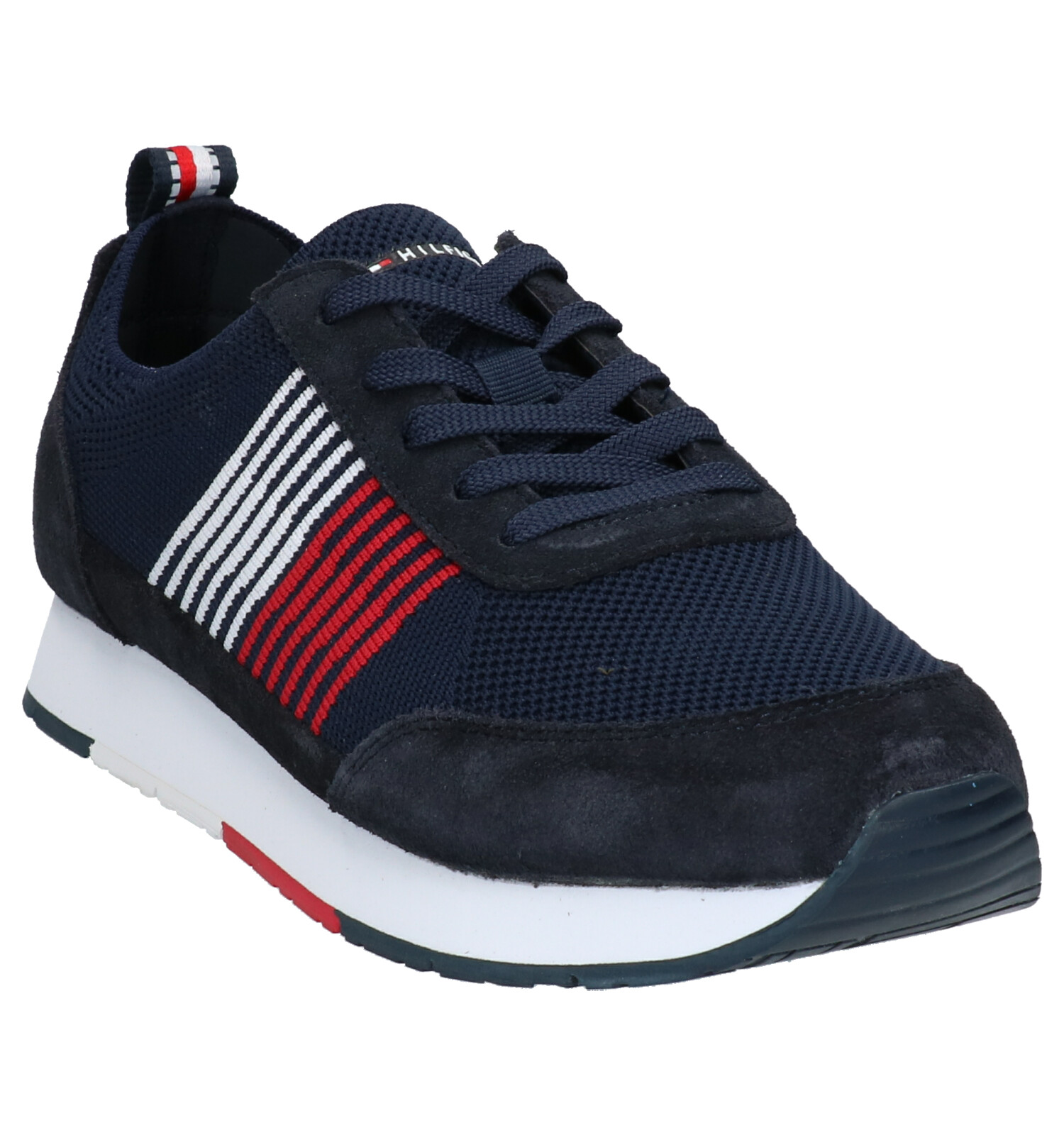 Tommy Runners Knit Donkerblauwe Hilfiger Eva jA4RL35