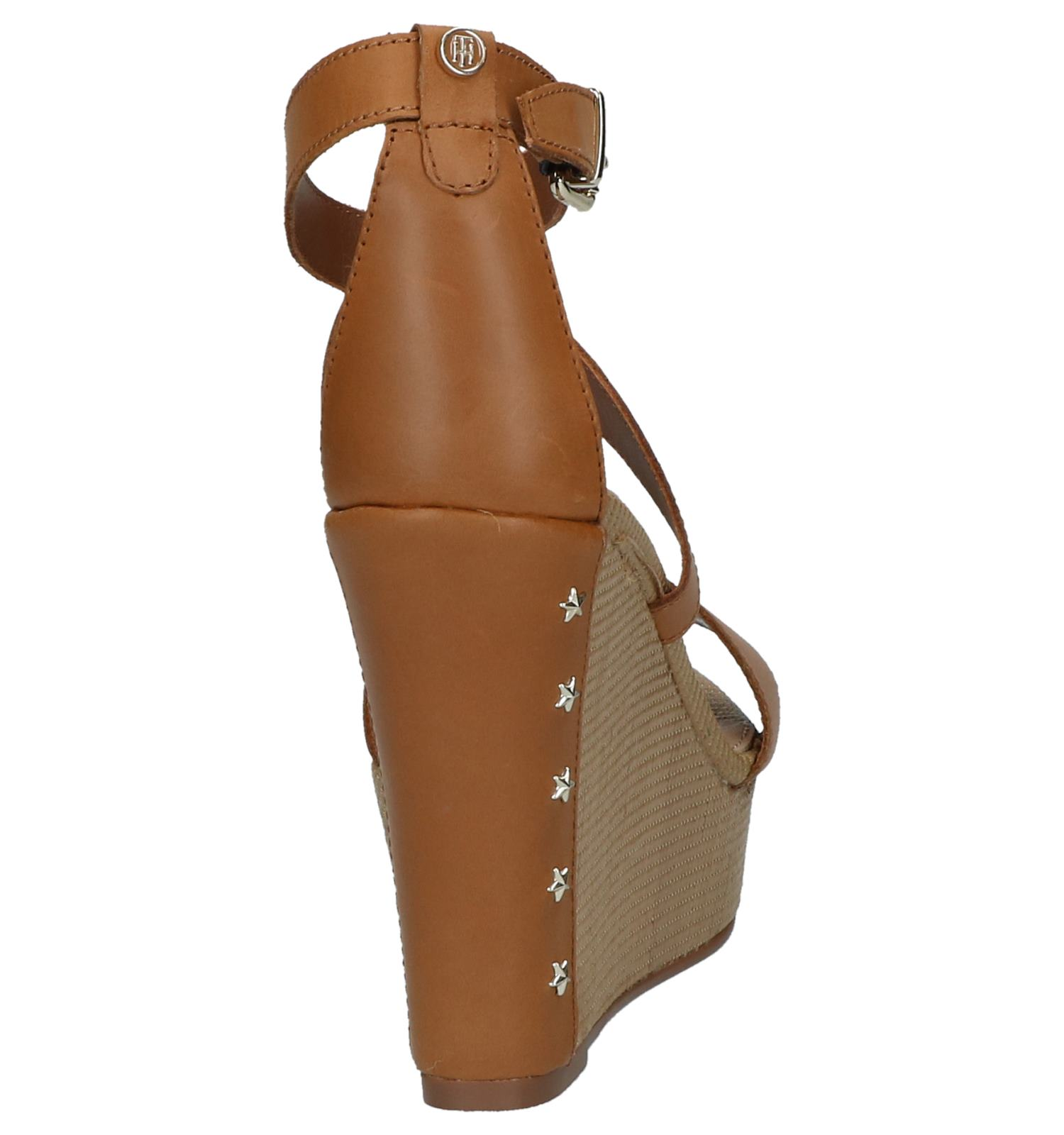 Cognac Sandal Feminine Wedge Tommy Hilfiger yvb6f7gY