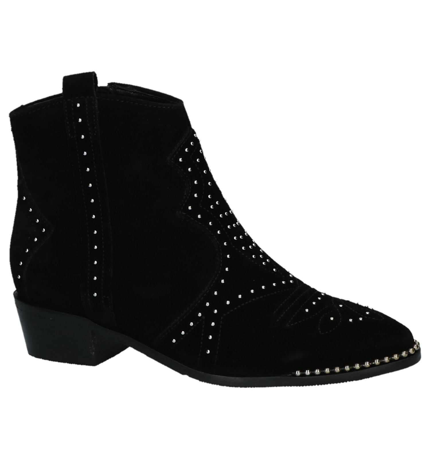 Zwarte Boots met Studs Bronx | SCHOENENTORFS.NL | Gratis verzend en retour