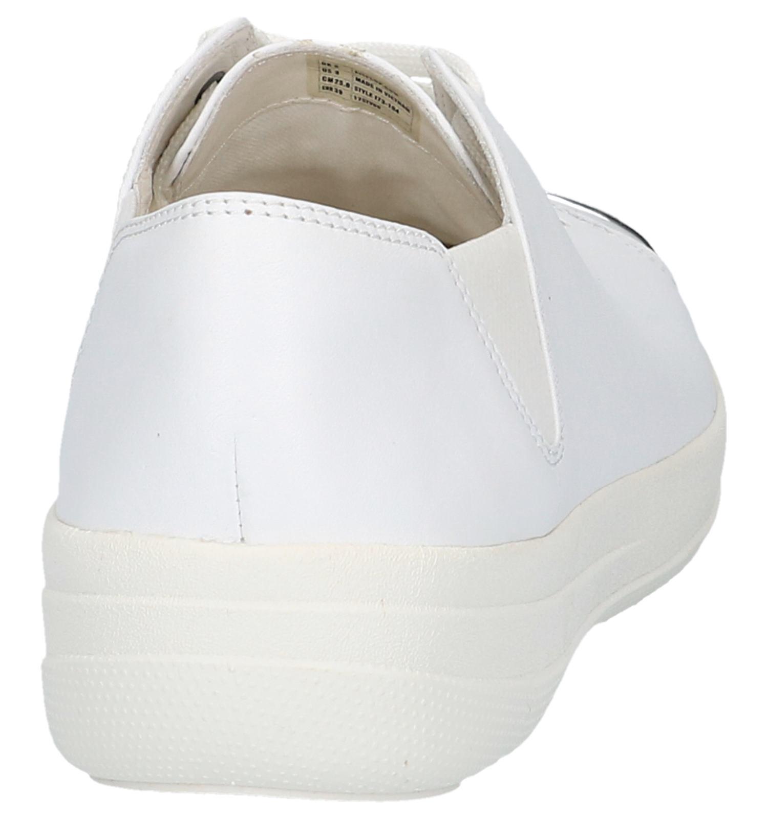 Veterschoenen toe F Fitflop Mirror Witte sporty R435LAj