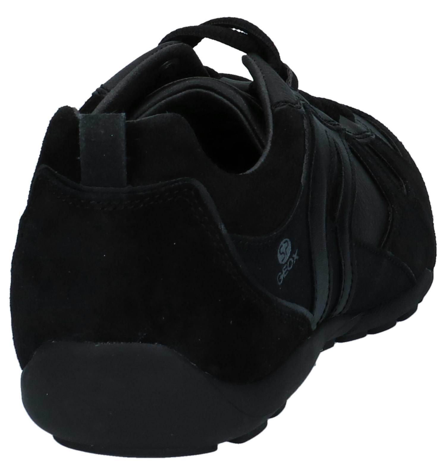 Zwarte Zwarte Casual Geox Geox Casual Veterschoenen 5L4Rj3A