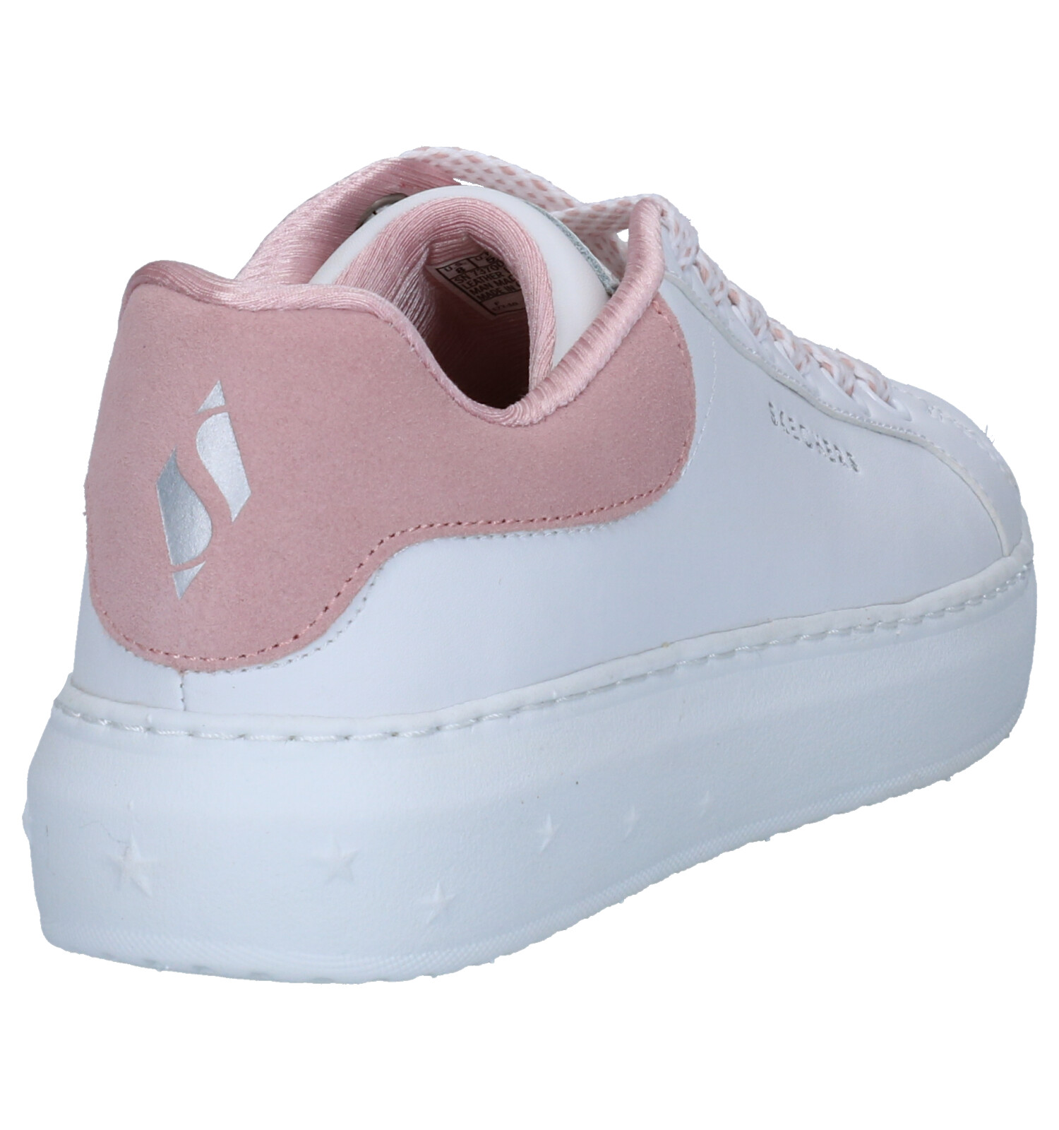 Skechers High Street Dotted Line Witte Sneakers