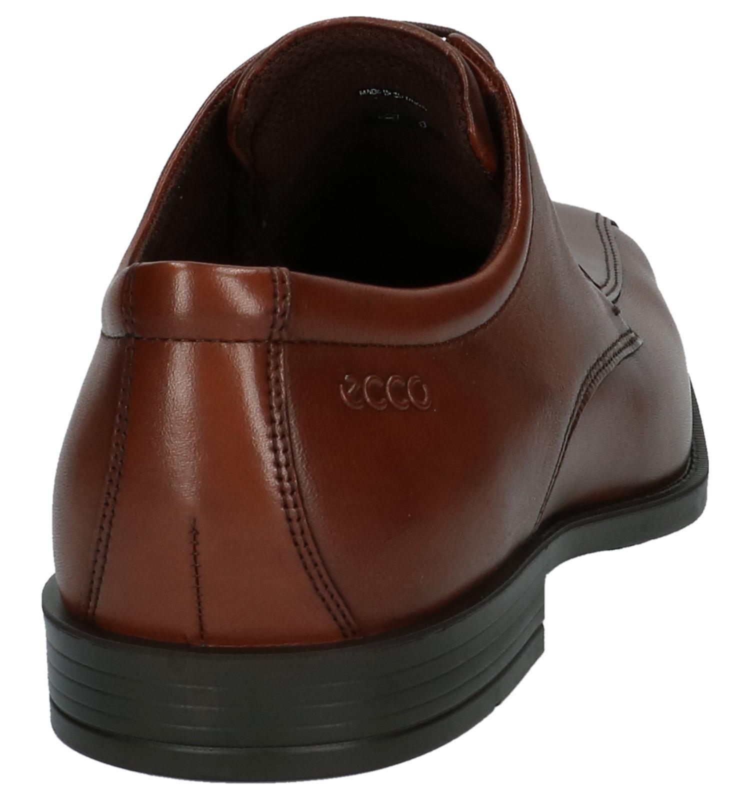 ECCO Edinburgh Cognac Veterschoenen | SCHOENENTORFS.NL