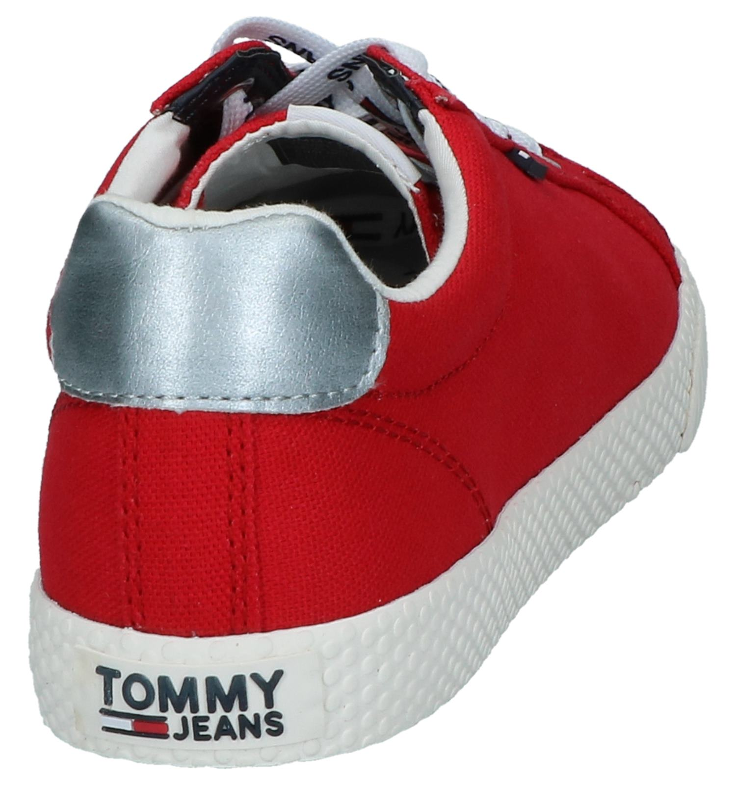 Tommy Sneakers Jeans Hilfiger Casual Rode eD2I9YWEH