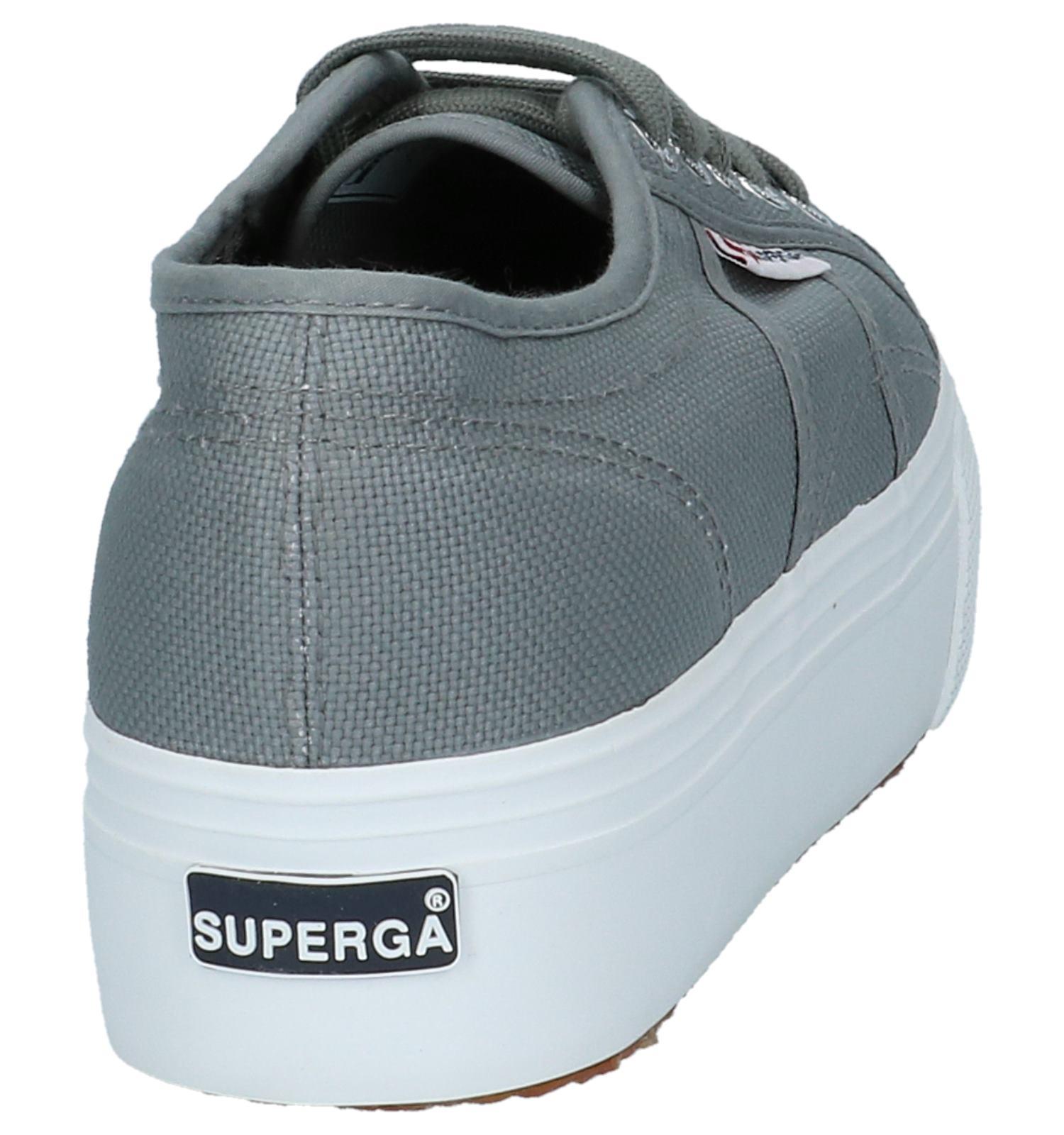 Plateauzool Sneakers Superga Met Grijs MqSUzVLpG