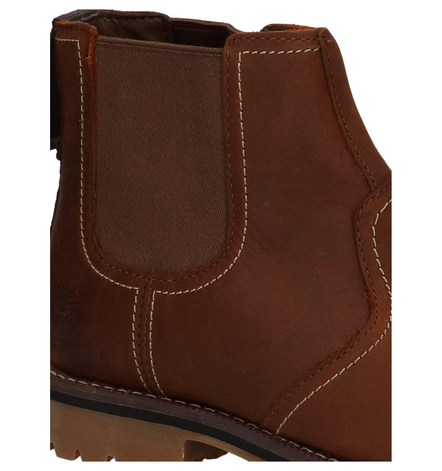 Timberland Larchmont Bruine Chelsea Boots | SCHOENENTORFS.NL