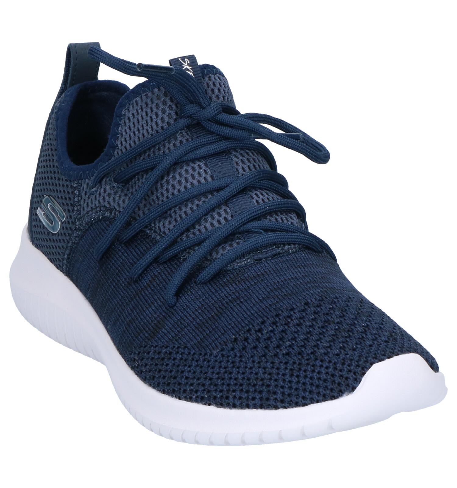 Skechers Donkerblauwe knit Skech Flex Sneakers Ultra vwN8n0m