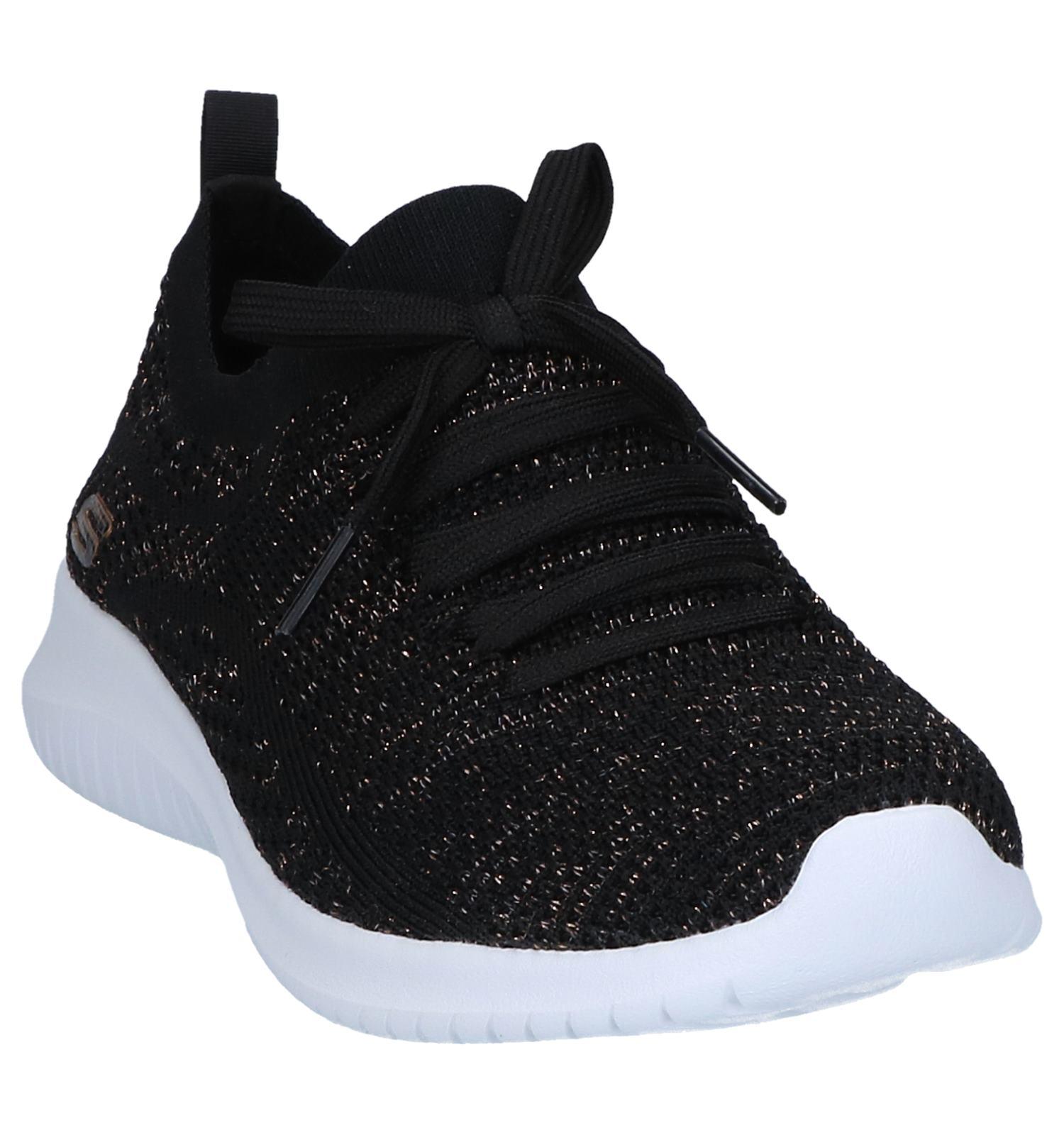 Lage Ultra Skechers Flex Zwarte Sneakers Salutations Rj5L4A