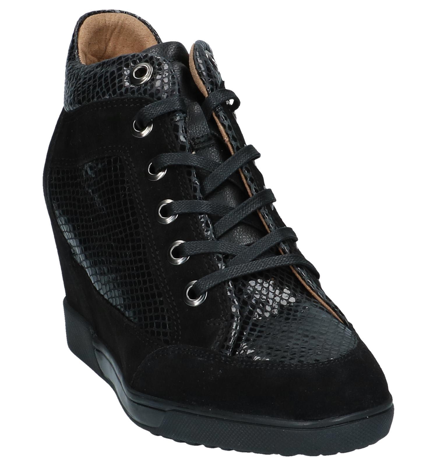 Met Carum Sleehak Geox Zwarte Sneakers XiwkuTZOP