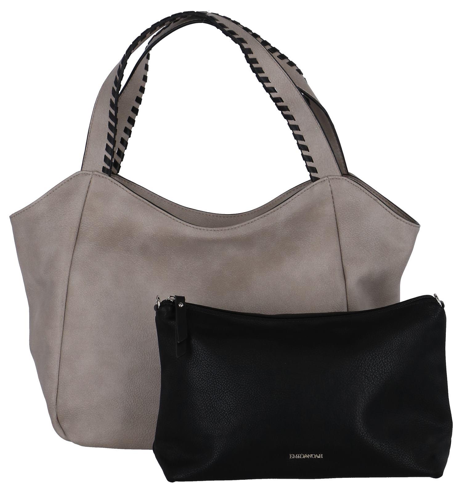 Taupe Bag in Bag Schoudertas Emily & Noah | SCHOENENTORFS.NL | Gratis verzend en retour