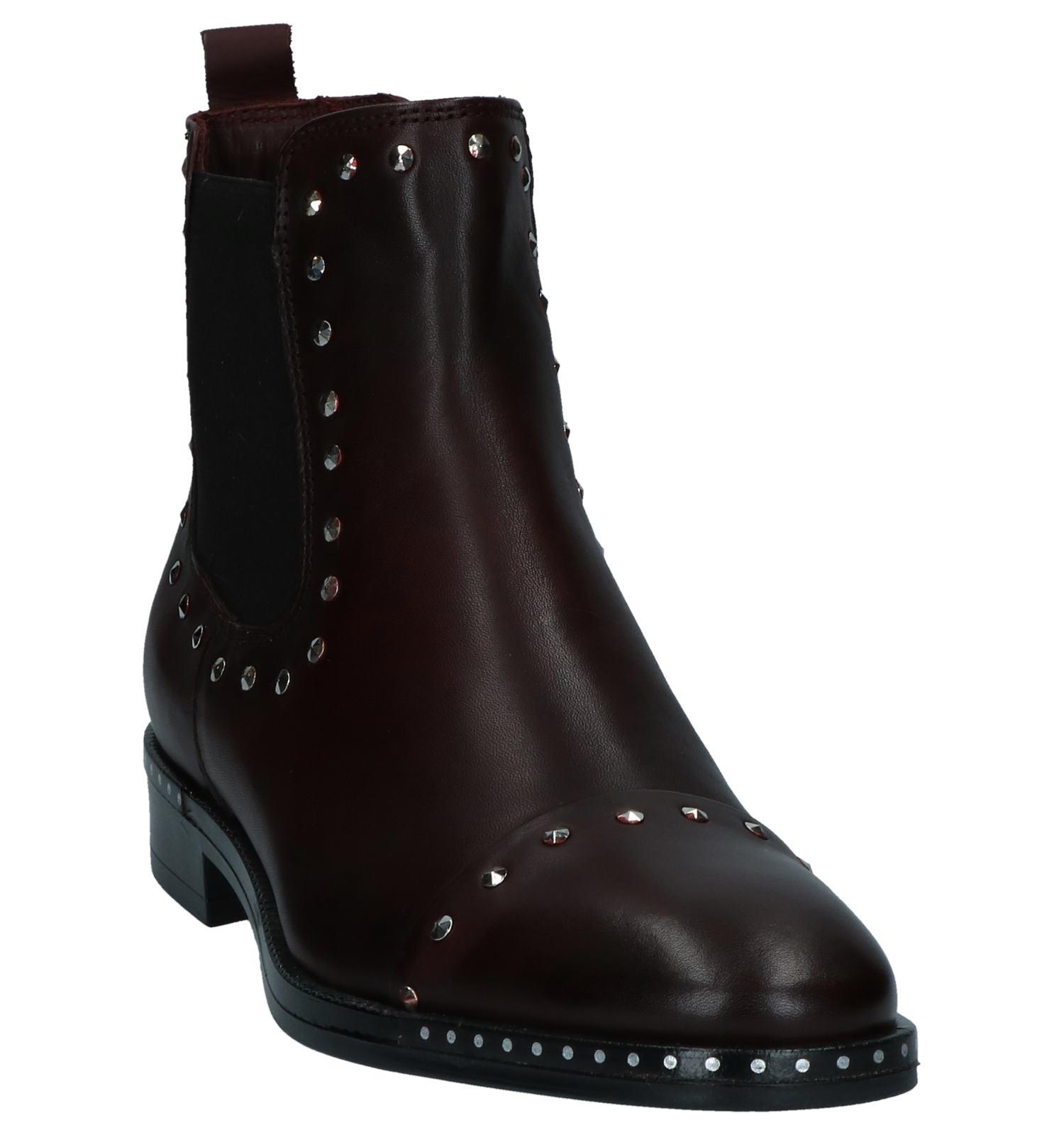Boots Via Limone Studs Met Torfs By Bordeaux Chelsea Donker w8knX0OP