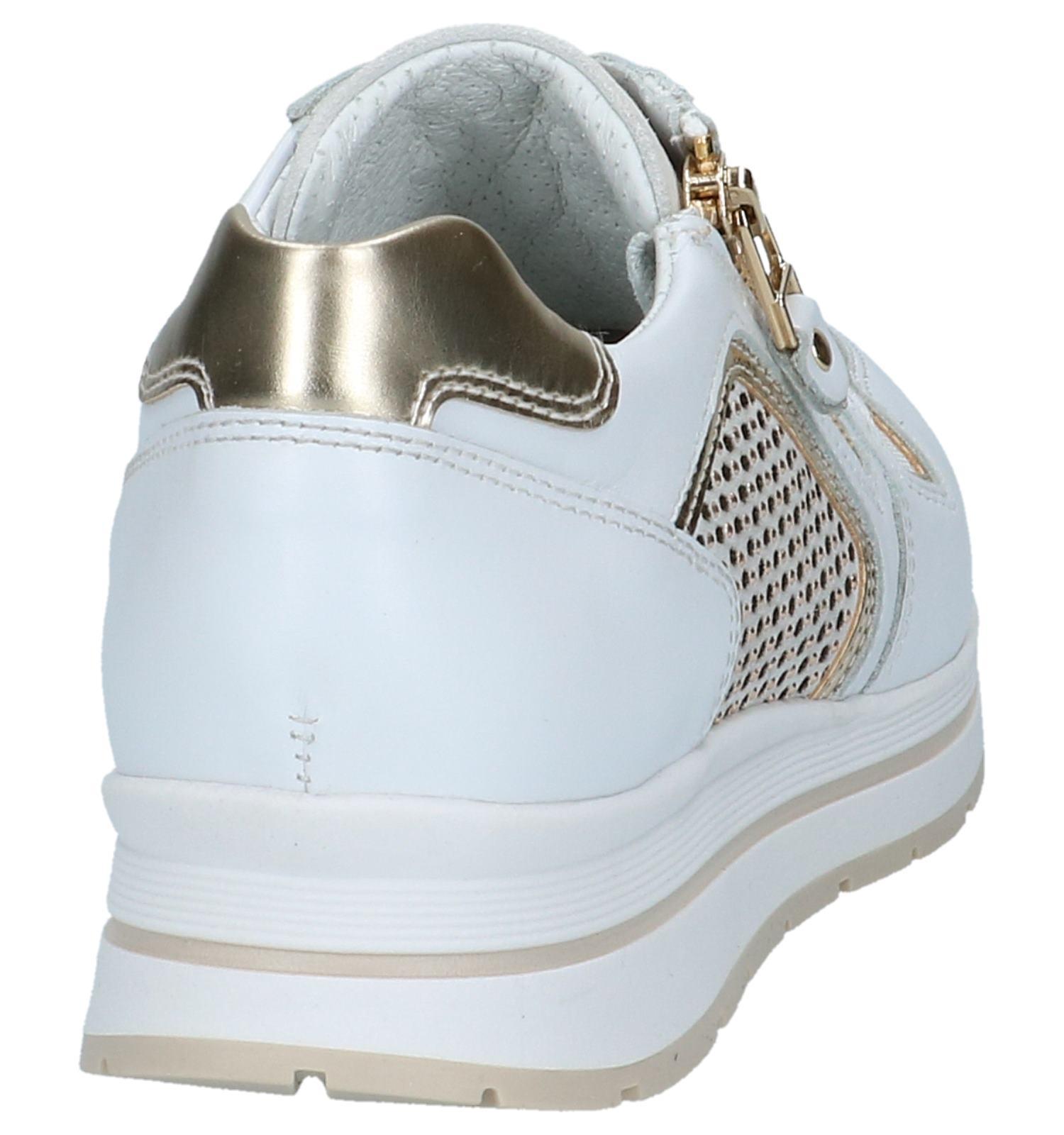 Witte Geklede Sneakers NeroGiardini | SCHOENENTORFS.NL