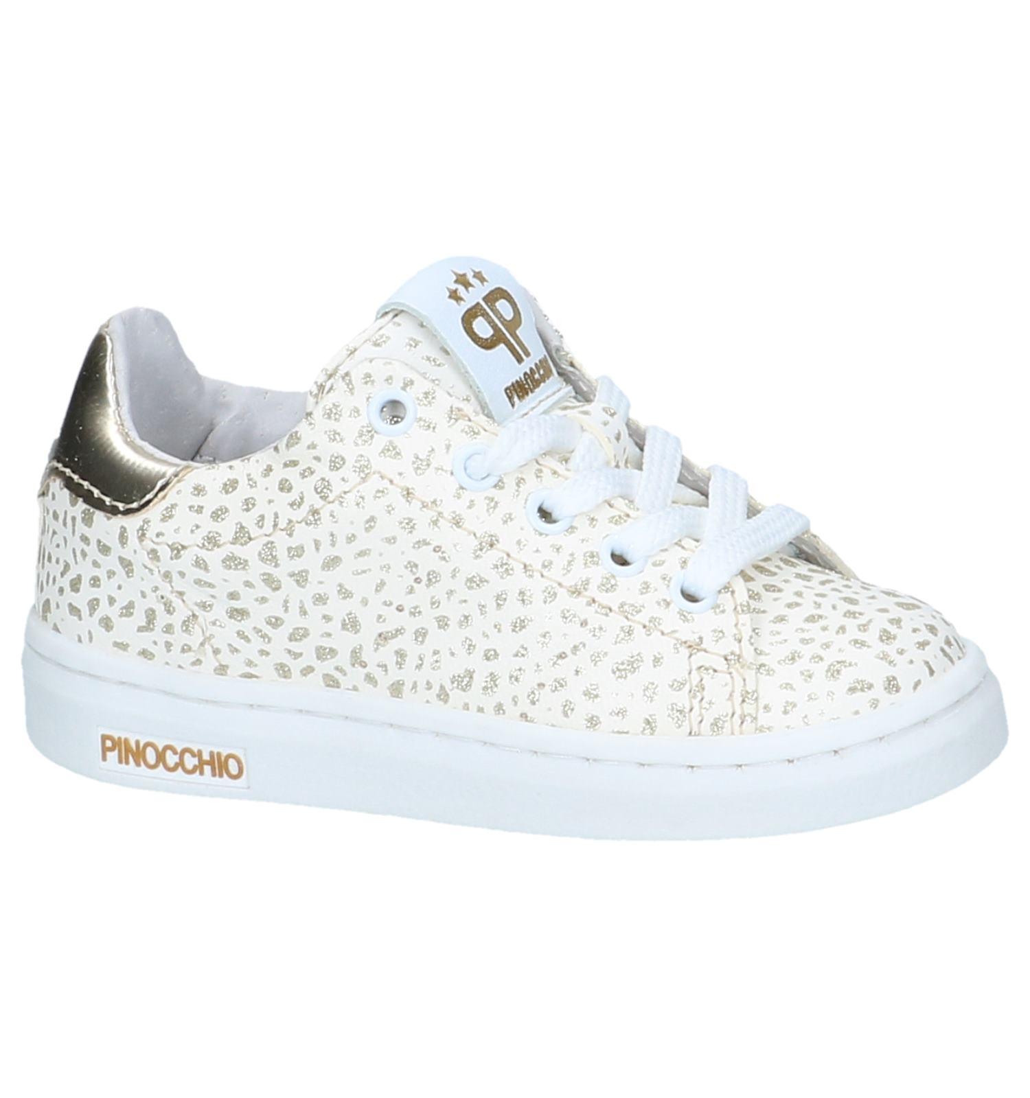 4c2f4bc061d Witte Sneakers met Rits/Veter Pinocchio | SCHOENENTORFS.NL | Gratis verzend  en retour