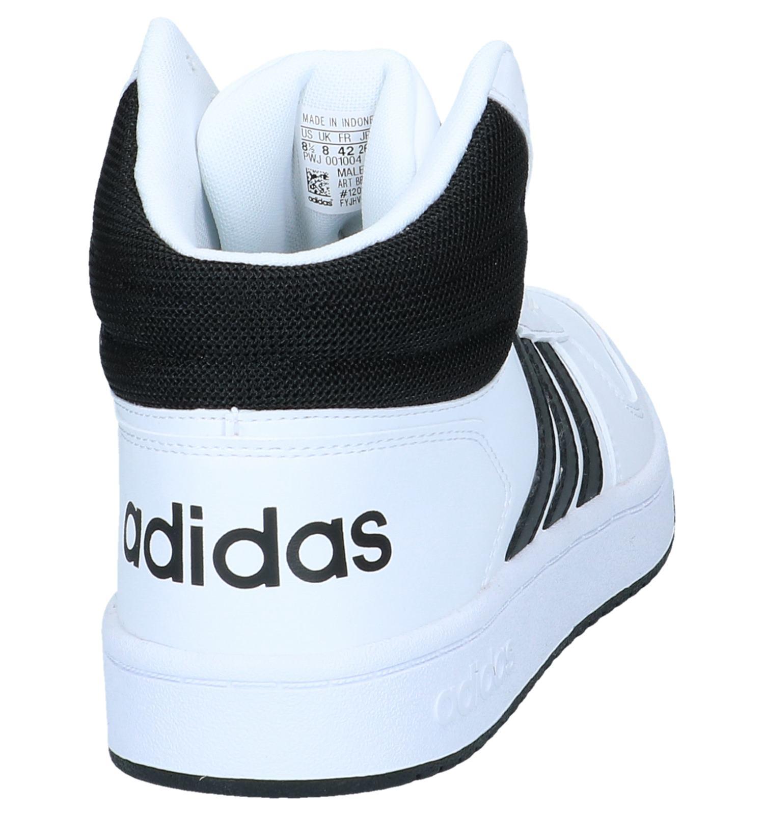 Witte Hoge Sneakers adidas Hoops 2.0 | SCHOENENTORFS.NL