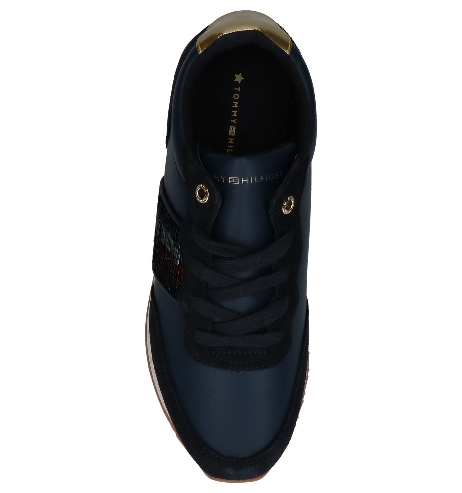 Tommy Tommy Hilfiger Donkerblauwe Sneakers Hilfiger Donkerblauwe bg7yY6f