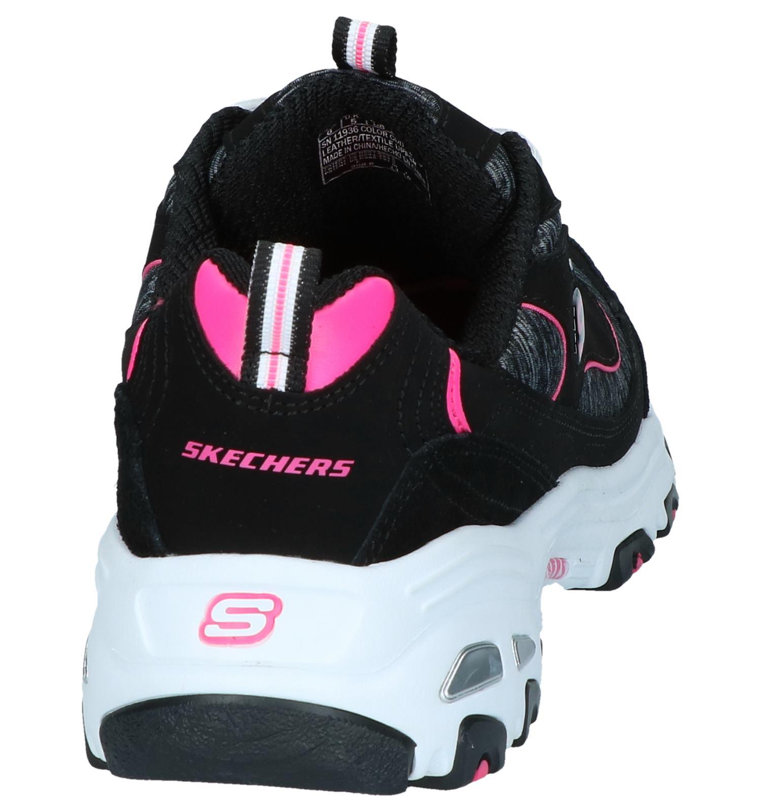 Sneakers Skechers D'lites Skechers Zwarte Zwarte Sneakers PXZkui