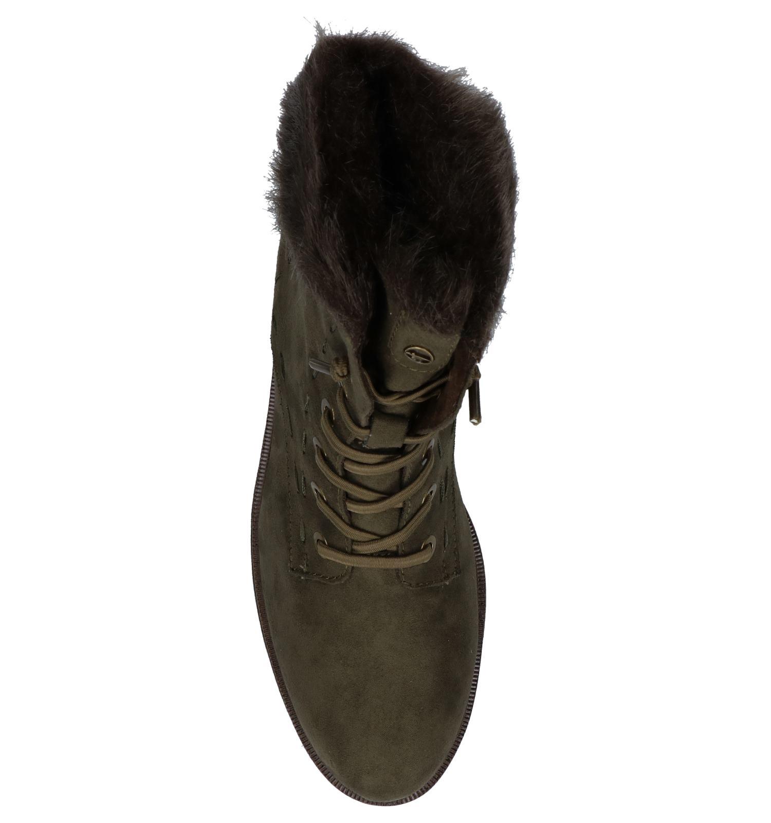 Tamaris Rits Touch Boots veter Olijfgroen It Met 0nwkXO8P