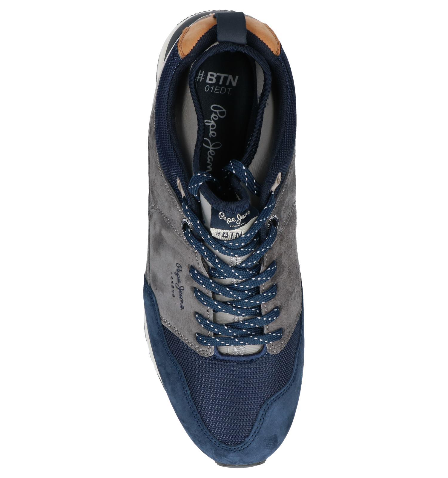 Jeans Slip Sneakers Pepe Donkergrijze on xrsdtQhC