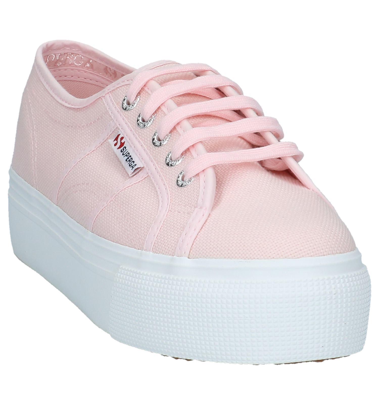 Licht Superga Sneakers Met Plateauzool Roze uTPXZOki