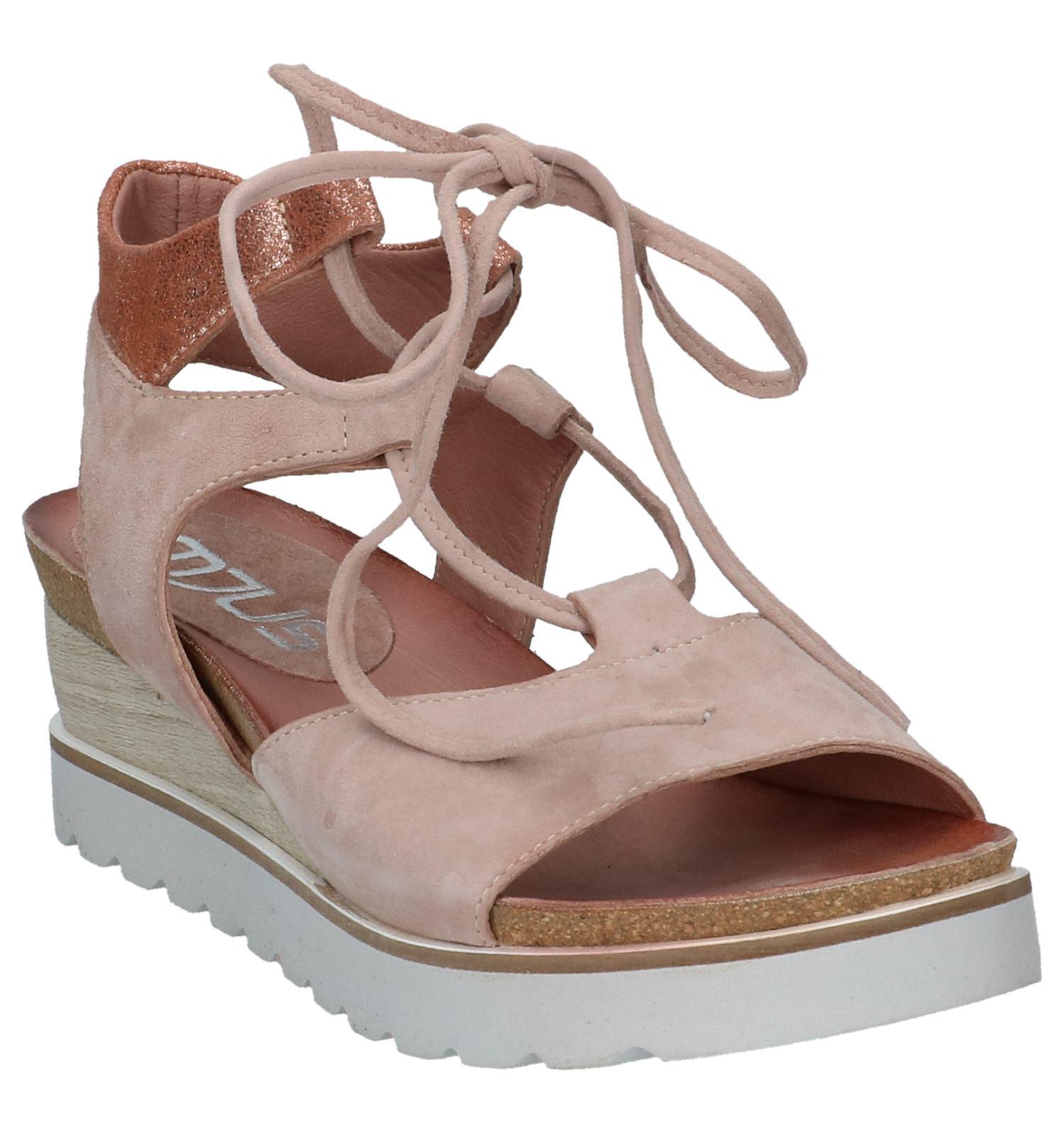 Lichtroze Sleehaik Sandalen Sandalen Met Met Lichtroze Sleehaik Mjus 76fgvYyb