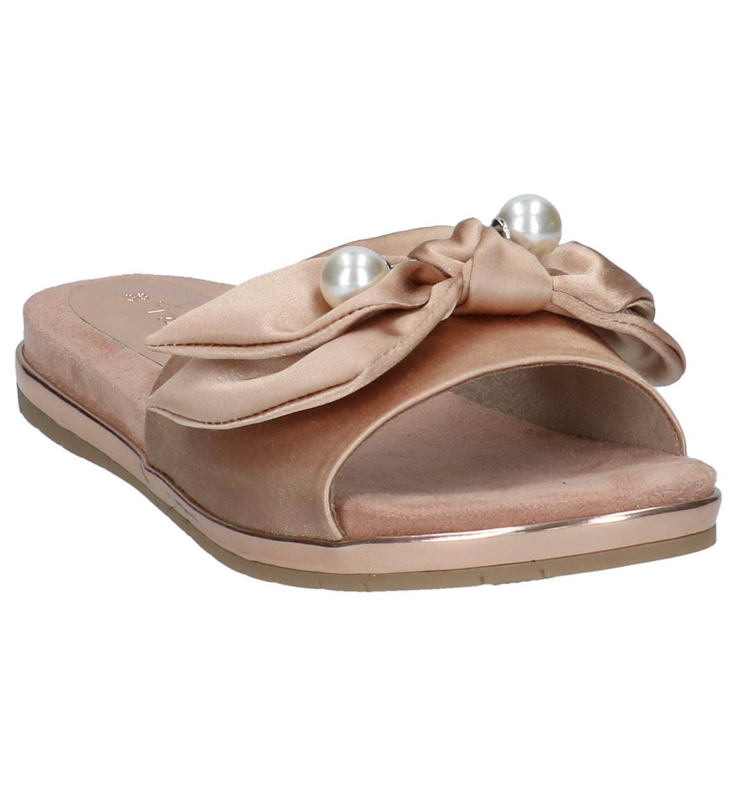 Tamaris Roze Slippers met Bloemen   TORFS.BE   Gratis